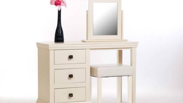 Abigail Cream Painted Dressing Table Mirror Stool