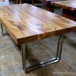 Acacia Wood Stainless Steel Legs Dining Tables
