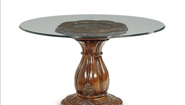 Aico Lavelle Melange Round Glass Top Dining Table
