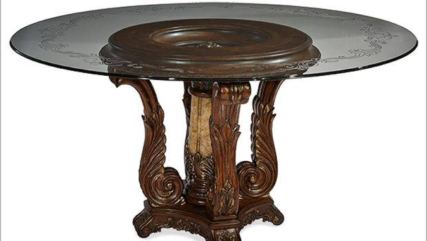 Aico Victoria Palace Round Glass Top Dining Table