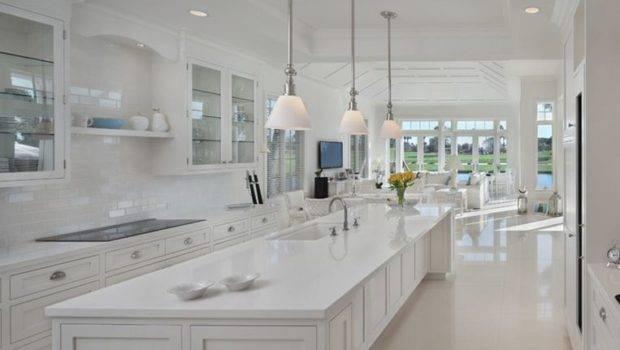All White Kitchen Floors