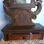 Antique Vanity Dresser Small Mirror Almercatino