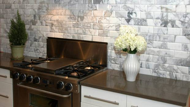 Appealing Stones Subway Tile White Kitchen Backsplash