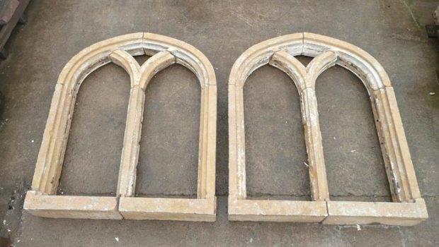 Architectural Treasures Pair Tudor Style Windows