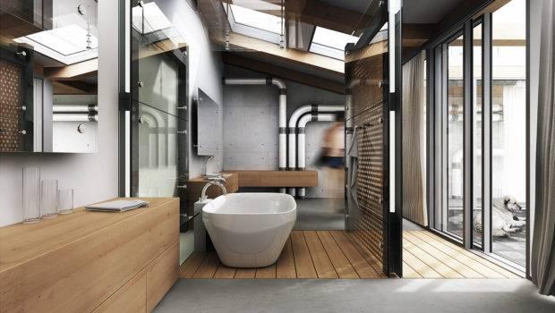 Architectural Visualization User Community Industrial Bathroom