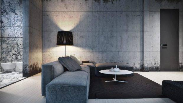 Architecture Coupled Concrete Walls Masculine Decor