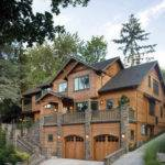 Architecture Oregon Log Cabins Homes Wood Stone House
