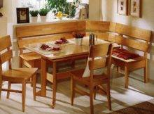 Ascona Kitchen Nook Natureal Beech Laquered Teilmassiv Bench