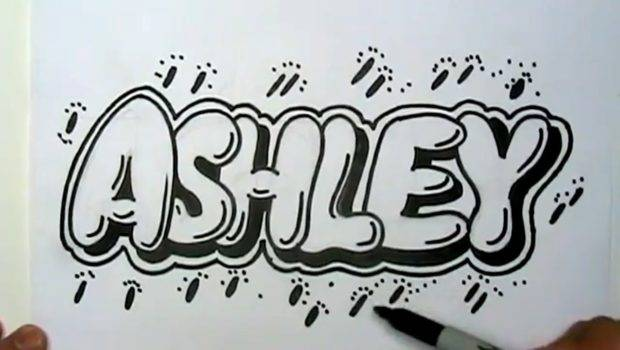 Ashley Graffiti Letters Write Bubble Youtube