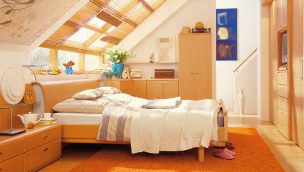 Attic Bedroom Decorating Ideas Cool Orange Splendid