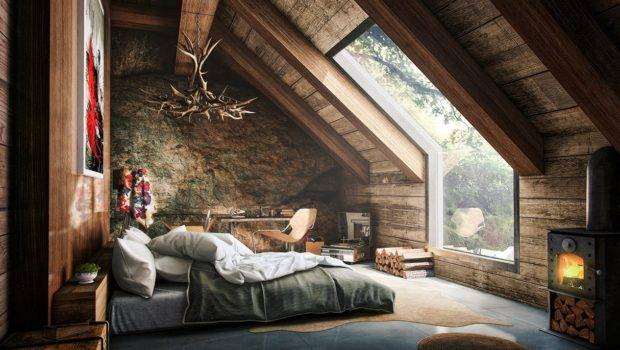 Attic Bedroom Opens Into Forest Like Grown
