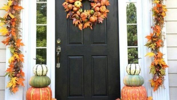 Autumn Porch Decorating Idea Photos