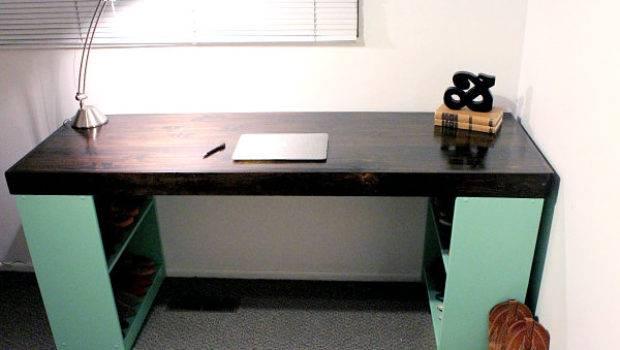 Back Diy Office Desks Modern Home