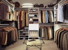 Back Small Square Walk Closet Ideas Mixed Blue Wall