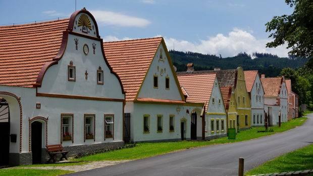 Baroque Style Farmer Houses Holasovice Czech Republic