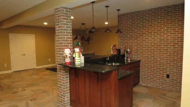 Basement Remodel New Bar Ceramic Tile Floor