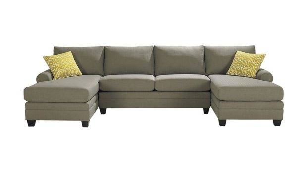 Bassett Living Room Double Chaise Sectional Csect