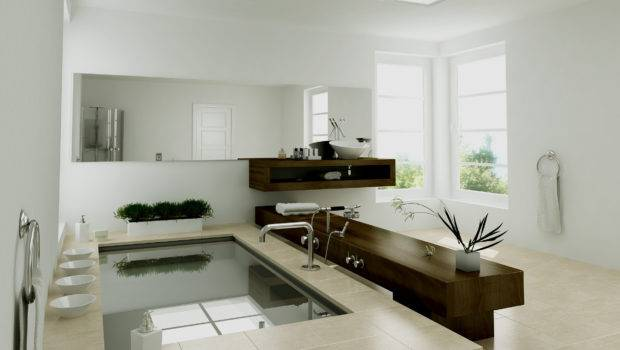 Bathroom Modern Simple Attractive Furniture Trends Interior Design