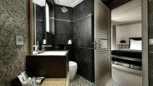 Bathroom Stone Sink Marble Tiles Chalet Black Pearl Val