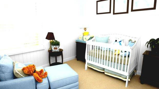 Beautiful Baby Nursery Room Glass Windows Horizontal Blind
