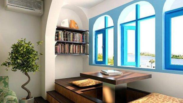 Beautiful Blue Mediterranean House Interior Design