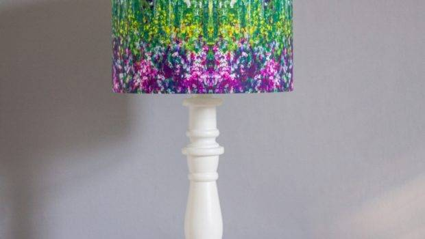 Beautiful Flowers Patterning Handmade Lampshades Nuanced