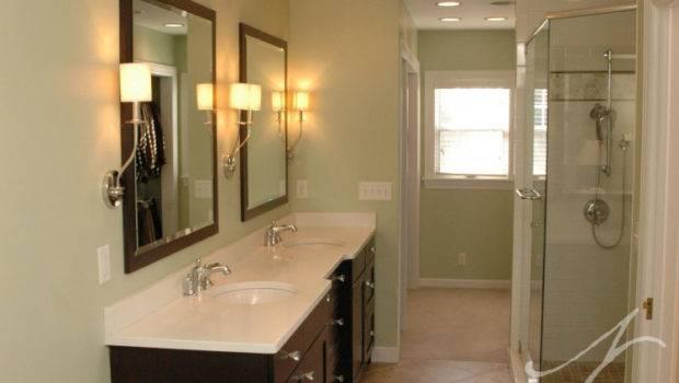 Beautiful Long Narrow Bathrooms Design Wall Decoration Dim