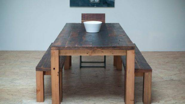 Beautiful Modern Dining Table Hand Crafted Reclaimed Wood