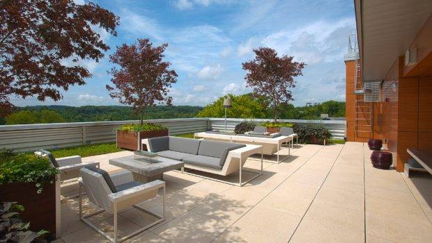 Beautiful Modern Minimalist Roof Garden Design Ideas