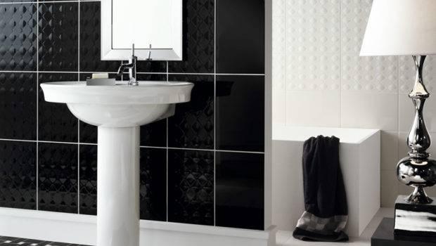 Beautiful Wall Tiles Black White Bathroom York Novabell