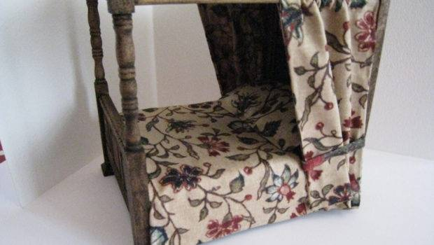 Bed Double Medieval Canopy Dressed Insomesmallwayminis