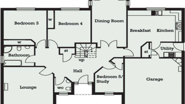 Bedroom Bungalow Floor Plans Homes