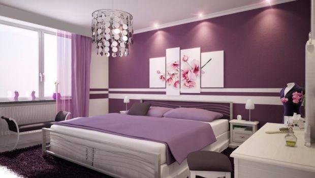 Bedroom Cute Decoration Teenager Room Ideas Purple Wall Paint