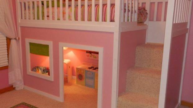 Bedroom Designs Cool Pink Girl Bunk Beds Singgle Bed Colorful Carpet
