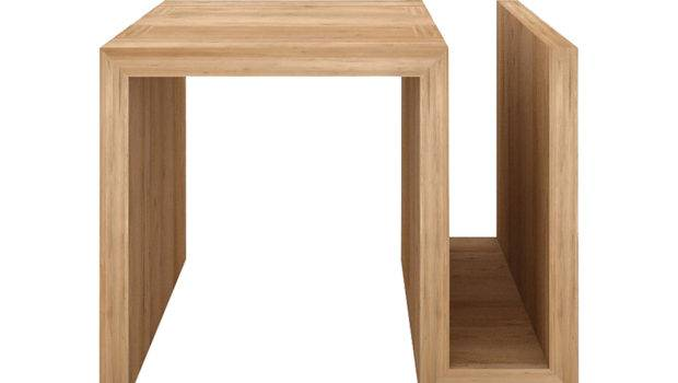 Bedroom Furniture Bedside Tables Ethnicraft Oak Side Table Naomi Kubus