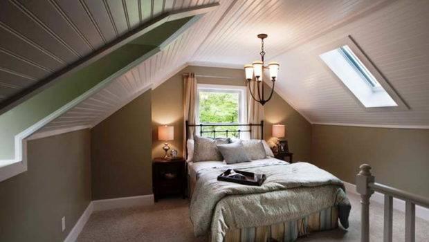 Bedroom Guest Attic Decorating Ideas
