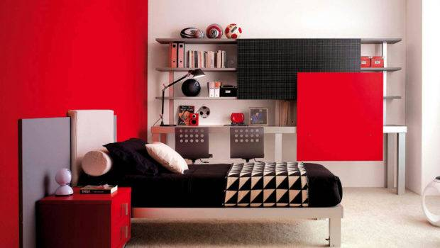 Bedroom Inspirations Tween Girl Room Ideas Red White Wall