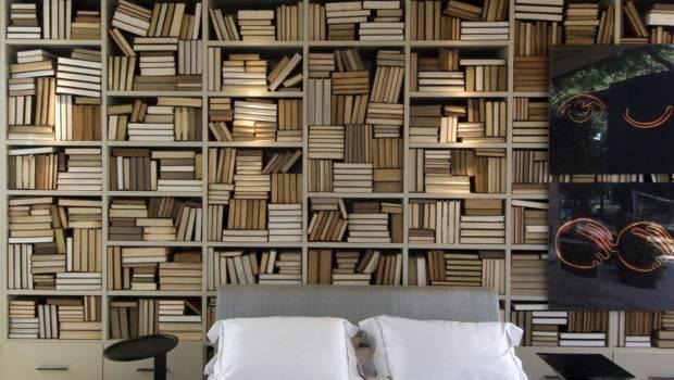 Bedroom Lots Bookshelves Interior Design Ideas