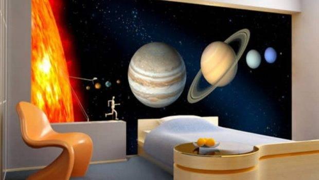 Bedroom Space Wall Murals Decorating Categories Design