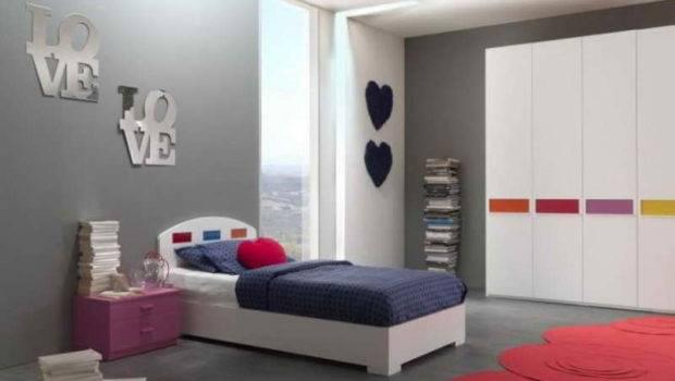 Bedroom Wall Grey Design Decor