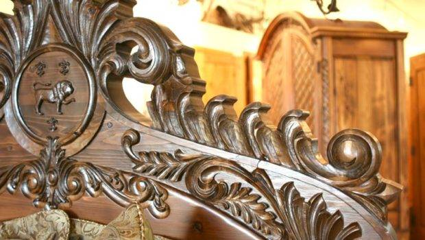 Beds Castle Gothic Style Hand Carved