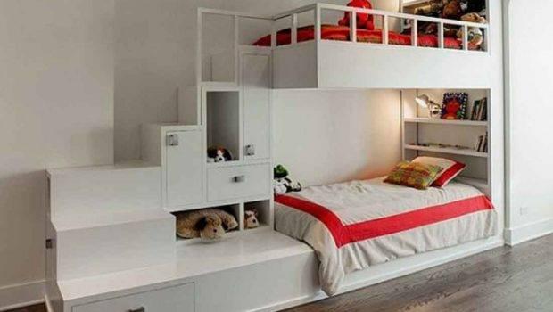 Beds Storage Ideas White Loft Bunk Bed Collective
