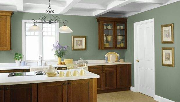 Behr Used These Colors Winter Hedge Athenian Green