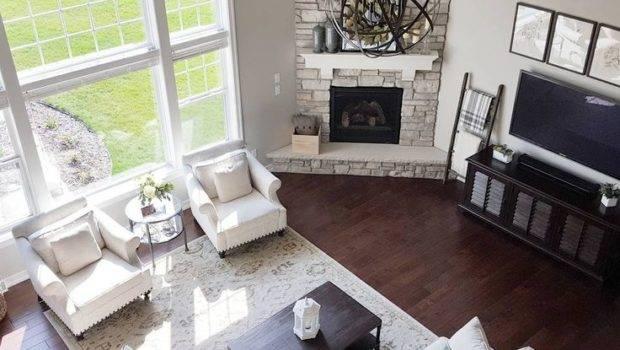 Best Corner Fireplace Layout Ideas Pinterest Open