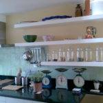 Best Designs Ideas Cool White Wall Mounted Kitchen Shelves