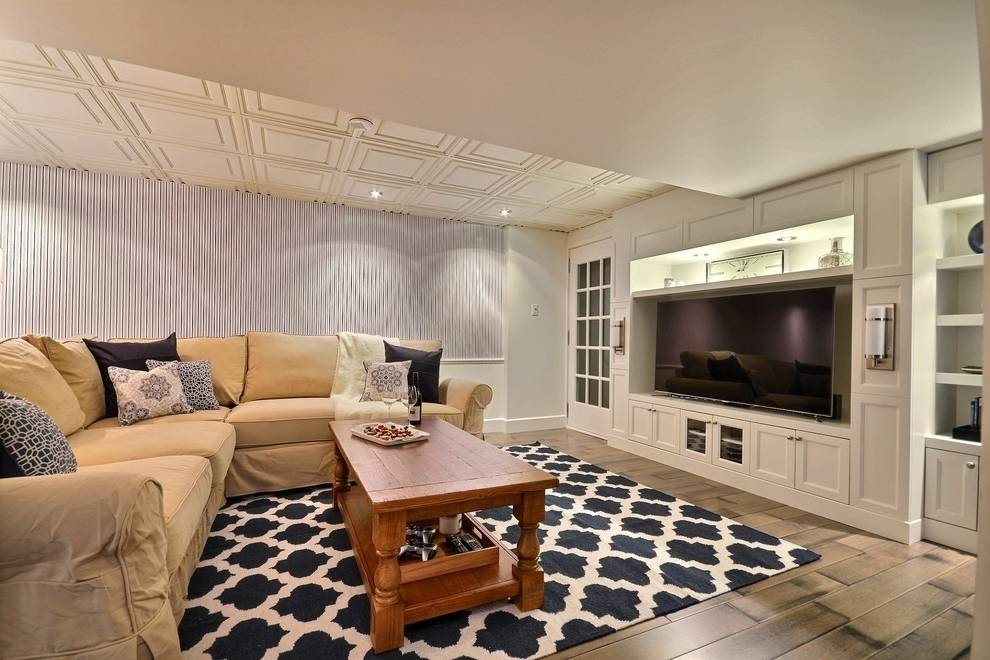 Best Paint Colors Brighten Dark Basement Living Space ...
