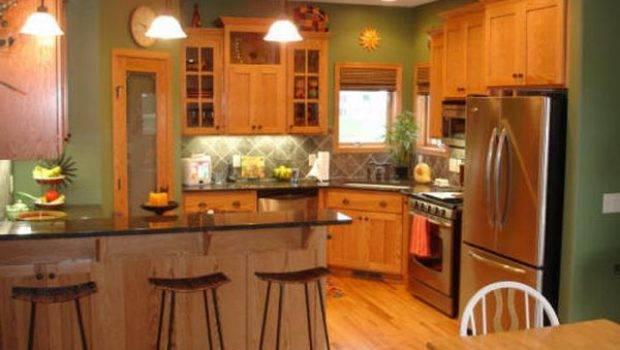 Best Paint Colors Kitchens Oak Cabinets