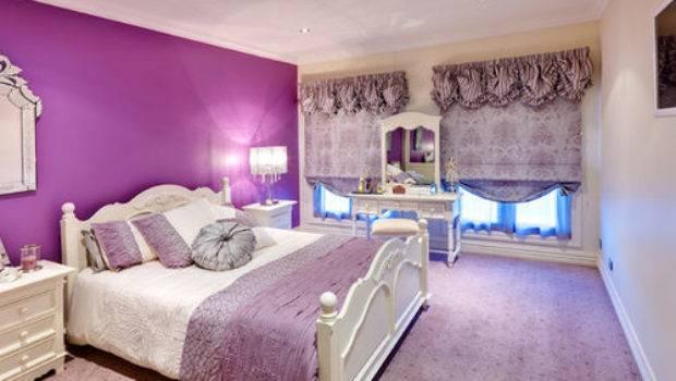 Best Victorian Bedroom Purple Walls Design Ideas