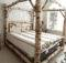 Birch Log Canopy Bed Comissioned Siemasko