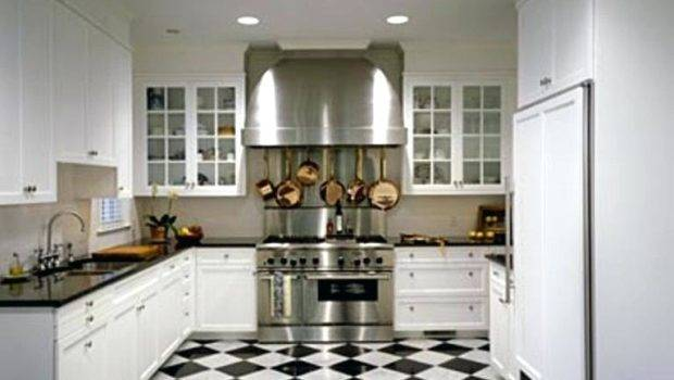 Black White Flooring Kitchens